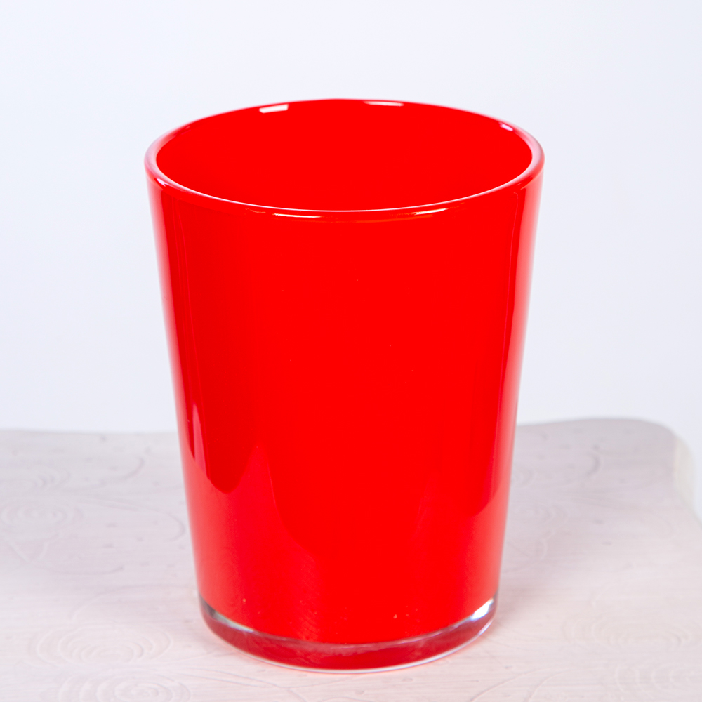 Macetero Cristal Rojo