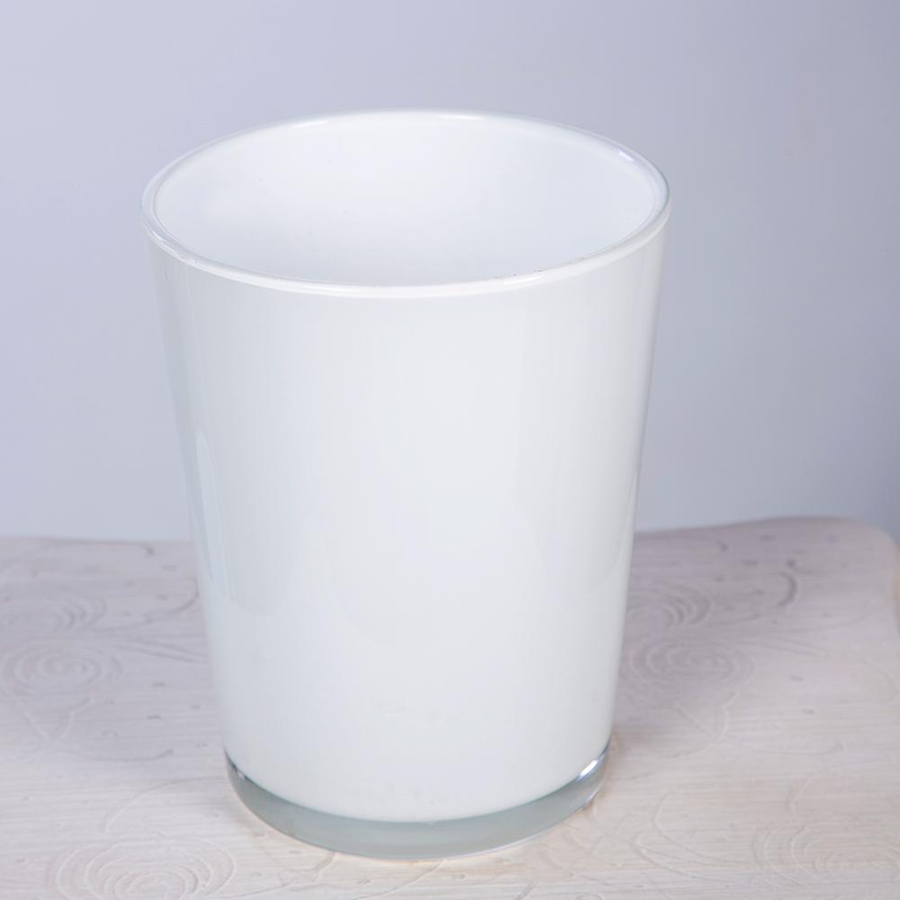 Macetero Cristal Blanco